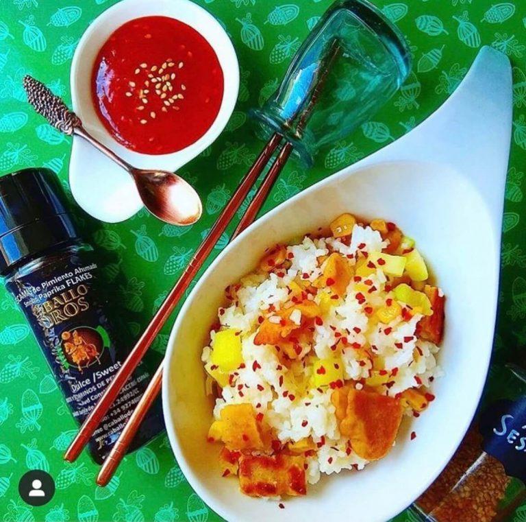 arroz frito con verduras