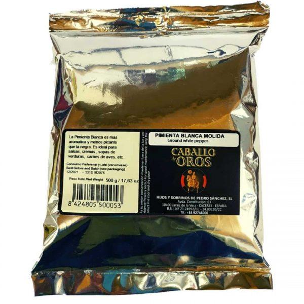 pimienta blanca en bolsa